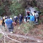Al menos siete lesionados dejó choque en sector Torobayo de Valdivia: Un vehículo desbarrancó