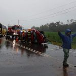 Choque múltiple deja al menos seis lesionados en sector Pelchuquín